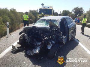 Uno de los vehículos afectados